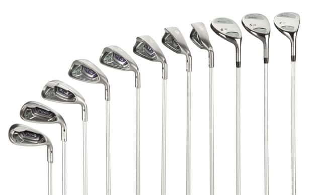 Ping Serene set of irons and hybrids.