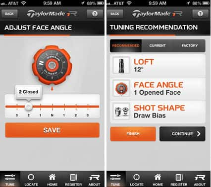 TaylorMade Golf R1 Driver Tuning App