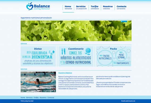 Balance Coaching Nutricional web home