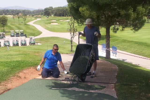 Imeison, instalación pavimento en el RCG El Prat