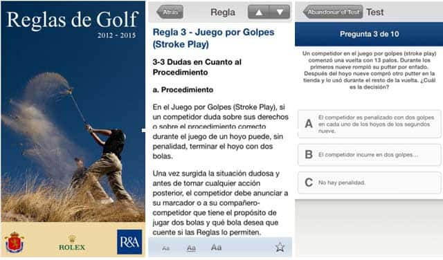 Rules of Golf - A new Spanish language iPad/iPhone App