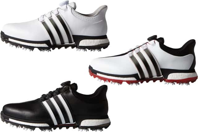 adidas Golf – The TOUR360 BOA BOOST golf shoe with the dial on the ...
