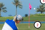 Juega un mejor golf – Tirando a bandera desde una posición difícil